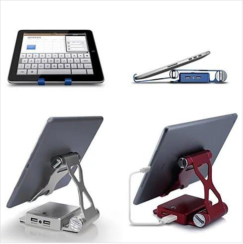 Podium Style Charging Stand with Extended Battery - For iPad ,iPhone or any smart gadgets