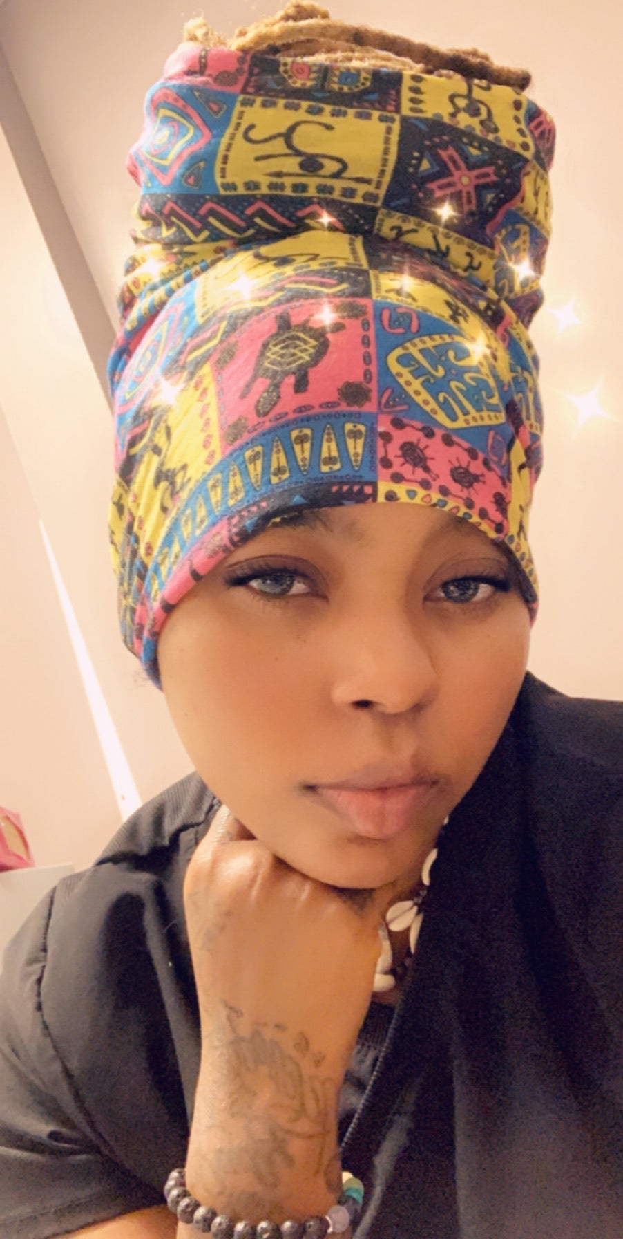 2 in 1 face protector and headwrap/loc sock
