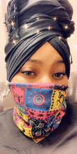 Load image into Gallery viewer, 2 in 1 face protector and headwrap/loc sock