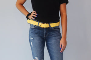 Yellow Double Circle Belt