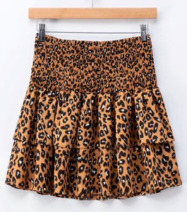 Let's Go Out Cheetah Skirt