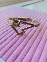 Load image into Gallery viewer, Gold Carabiner Lightning Bolt Bracelet