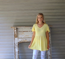 Load image into Gallery viewer, Babydoll Tunic- Banana