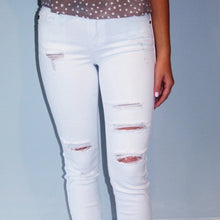 Load image into Gallery viewer, No Worries White Jean
