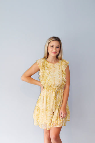 Snakeskin & Sunshine Dress