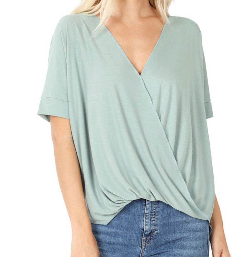 Soft Slouchy Blouse- Light Green
