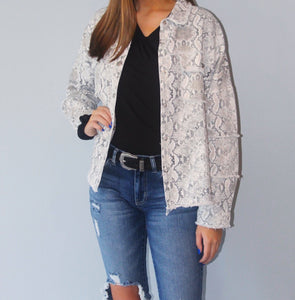 Out Late Snakeskin Jacket