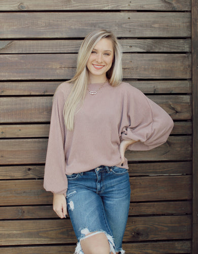 Slinky Taupe Sweater