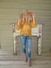 Load image into Gallery viewer, Mustard Knit Pullover