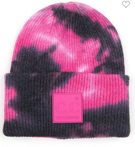 C.C. Beanie - Black/Hot Pink