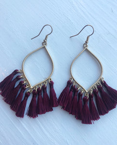 Don't Look Away Tassel Earrings