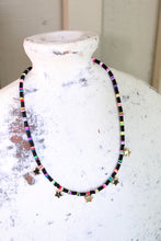 Load image into Gallery viewer, Multi-Colored Star Choker - black