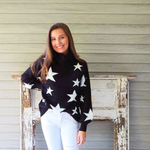 Load image into Gallery viewer, Star Print Turtleneck Sweater