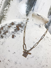 Load image into Gallery viewer, Day Out Silver Lock Necklace