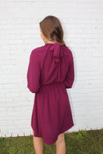 Load image into Gallery viewer, Wine High Neck Dress