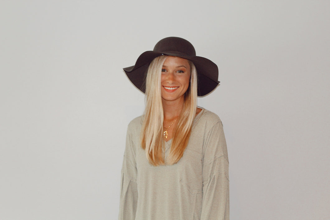 Charcoal Floppy Hat