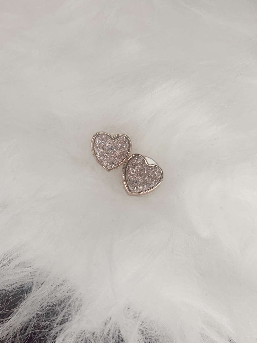 Heart Studs- Rose Gold