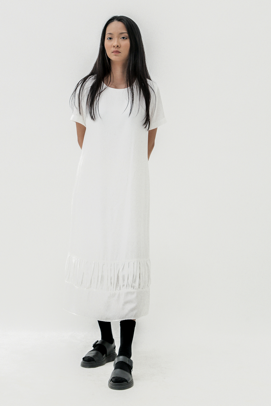 Offwhite Crinkle Dress