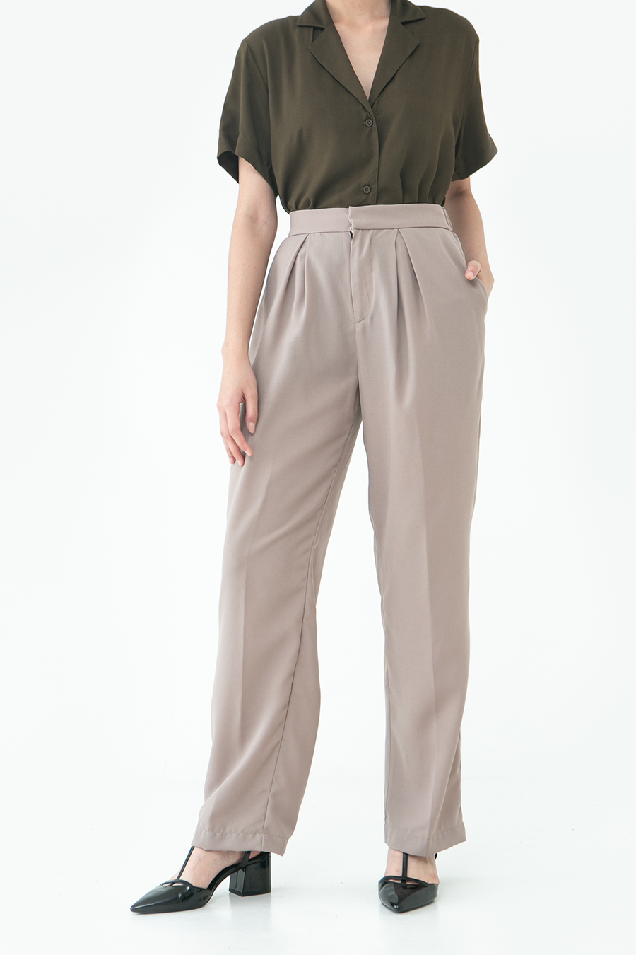 Taupe Zion Trousers
