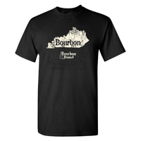 Bourbon Bound Kentucky Bourbon on a Black Shirt