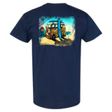 Coastlines Designs Beach Van on a Navy T Shirt