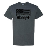 Beer on a Dark Heather Short Sleeve T Shirt