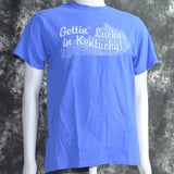 GETTIN' LUCKY in KENTUCKY on BLUE Shirt
