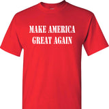 Make America Great Again MAGA Donald Trump on a Red Short Sleeve T Shirt