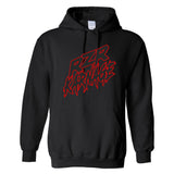 RZR Karnage Logo in Red on a Black Hoodie