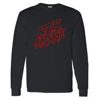 RZR Karnage Logo in Red on a Long Sleeve Black T Shirt