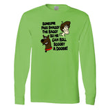 Pass Shaggy the Baggy So He Can Roll Scooby a Doobie on a Long Sleeve Green Shirt