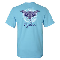 Southern Charm Explore on a Sky Blue Short Sleeve T Shirt