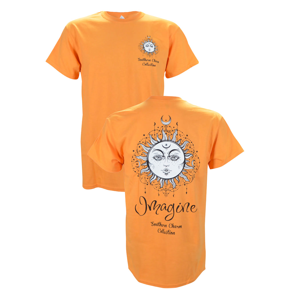 Southern Charm Imagine Sun On A Tangerine T Shirt Shirt Warehouse