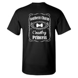 Southern Charm Country Princess on a Black Short Sleeve T Shirt