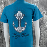Southern Charm Anchor Keep Hope on a Teal T Shirt