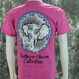 Southern Charm Tribal Elephant on a Heather Pink Shirt