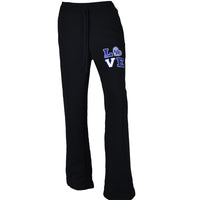 University of Kentucky Love Ladies Black Sweatpants