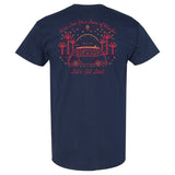 Coastlines Designs Let's Get Lost on a Navy T Shirt