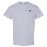 Coastlines Designs Beach Waves Sunset on a Sports Grey T Shirt