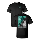 Coastlines Designs Palm Trees on a Black T Shirt