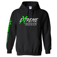 Official Extreme Muddin' Logo On on a Black Hoodie