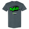 Extreme Muddin Mud Life on a Dark Heather T Shirt