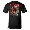 Extreme Muddin Send It Big Time on a Black T Shirt