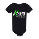 Extreme Muddin Logo on a Black Onesie