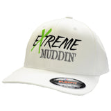 Official Extreme Muddin' White Flex Fit Hat