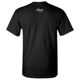Muddin Girl Logo With Green Extreme Muddin on a Black T Shirt