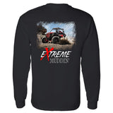 Extreme Muddin' Side By Side On on a Long Sleeve Black T Shirt