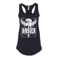 Hosier Guitar Design on a Black Ladies Tank Top