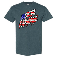 RZR Karnage American Flag on a Dark Heather T Shirt