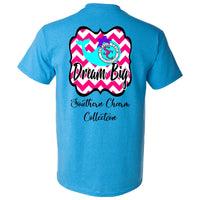Southern Charm Dream Big on a Heather Saphire Short Sleeve T Shirt